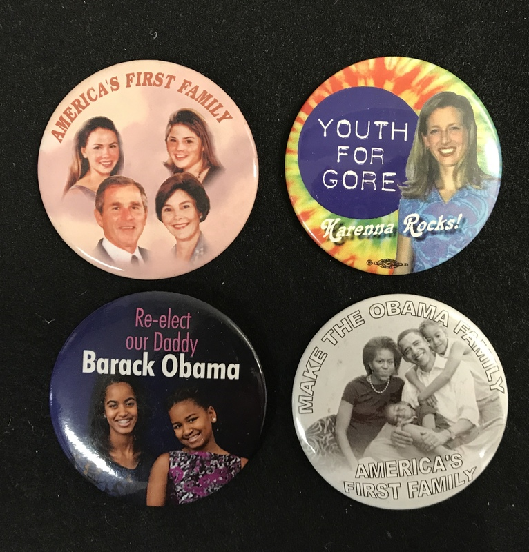 Assortment of First Family campaign buttons