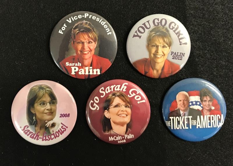 Sarah Palin campaign buttons
