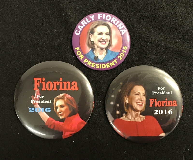 Carly Fiorina campaign Buttons