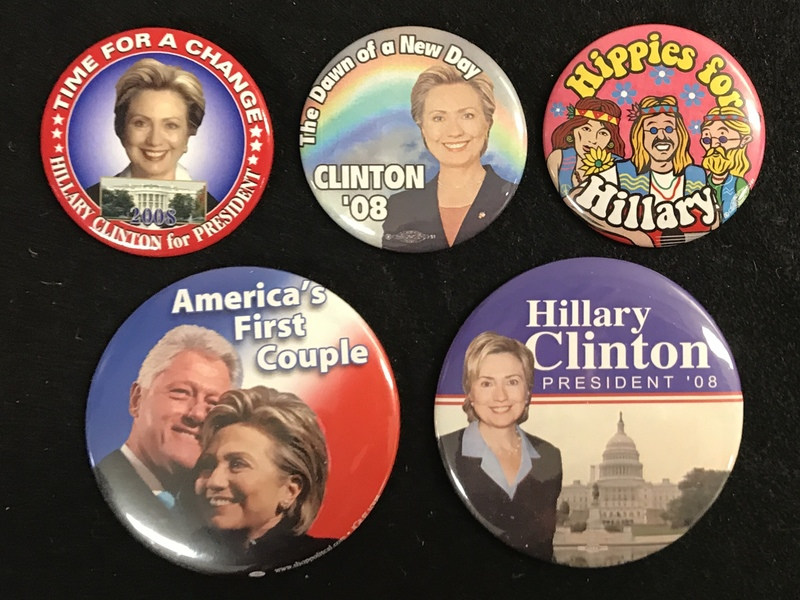 Hillary Clinton 2008 Campaign Buttons