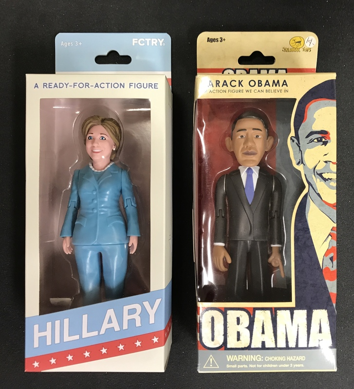Hillary Clinton and Barack Obama action figures by Jailbreak Toys.