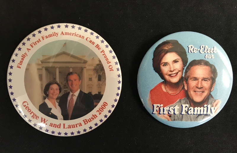 George and Laura Bush 'First FAmily' campaign buttons
