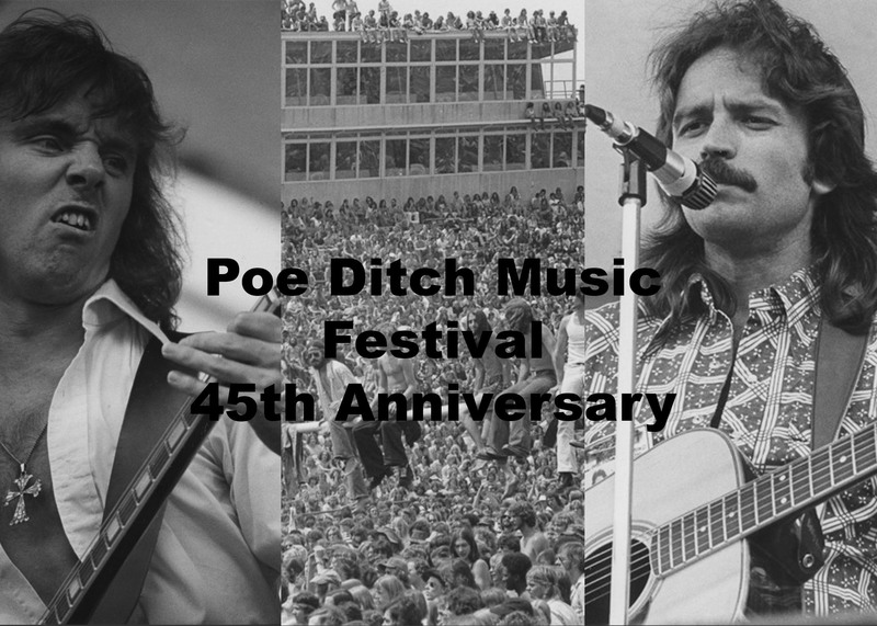 Poe Ditch Music Festival 45th Anniversary Exhibit Banner