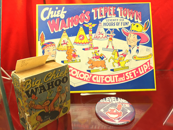 Items related to Big Chief Wahoo (cartoon character) and Chief Wahoo (Cleveland Indians mascot). Circa 1940s.