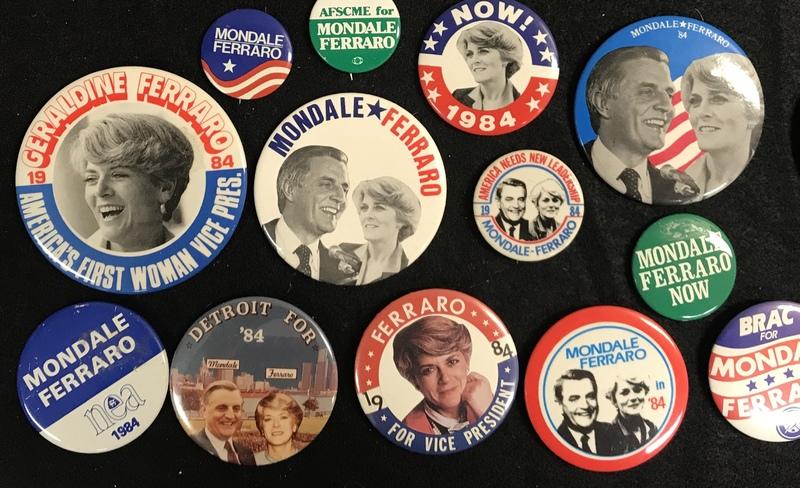 Geraldine Ferraro Campaign Buttons