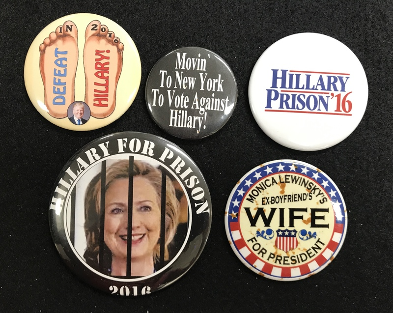 defeat Hillary campaign Buttons