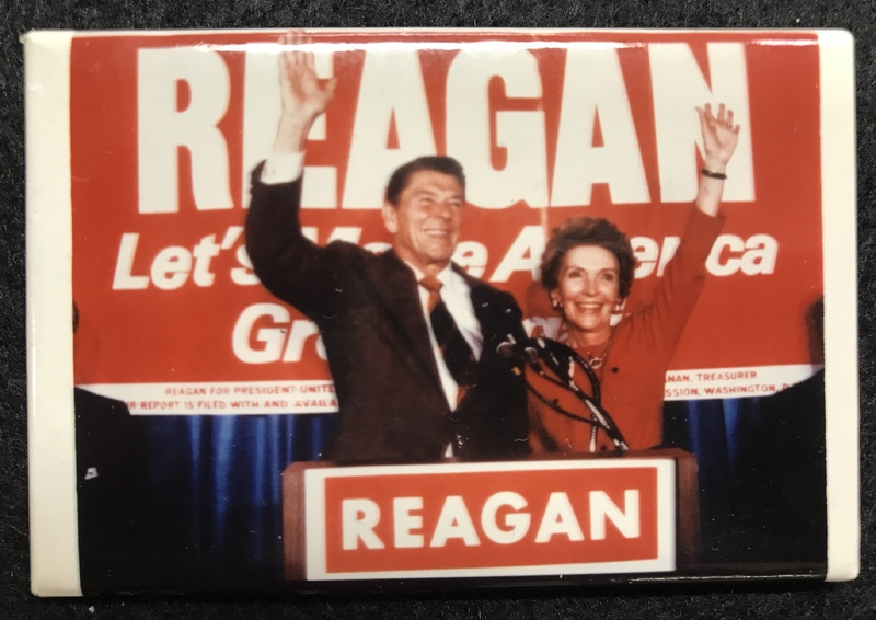 'Let's Make America Great' Reagan campaign Pin