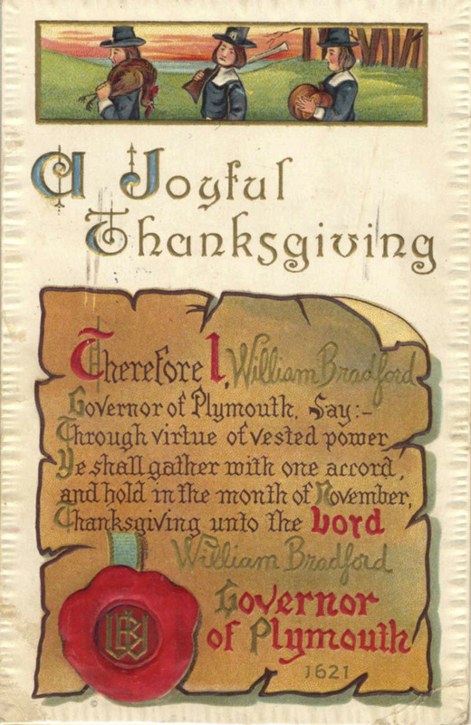 Thanksgiving greeting card cover