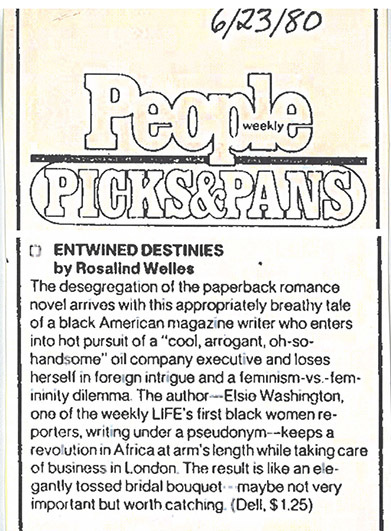 People Magazine <em>Entwined Destinies</em> Review