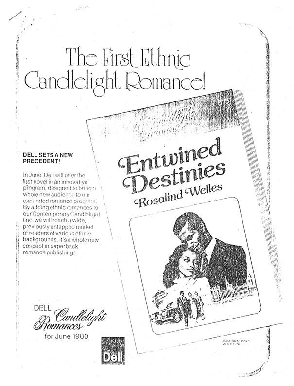 Print advertisement for <em>Entwined Destinies</em>