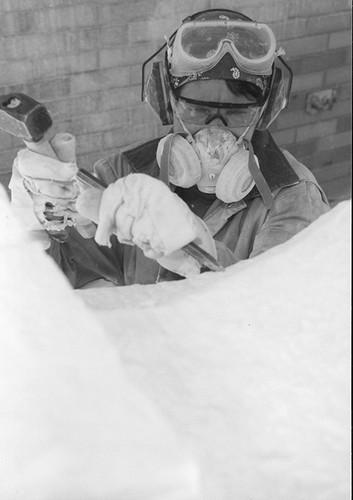 Artist Donald Drumm (provisional identification).
