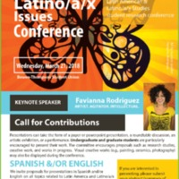 2018 Latino/a/x Issues Conference Call for Contributions Poster