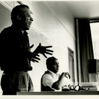 James Baldwin and Dr. Ernest Champion teaching at BGSU