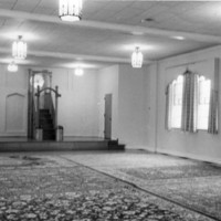 Prayer room at first mosque in Toledo, Ohio