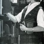 BGSU library student employee, 1960s