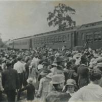 Send-off of Wood County soldiers, Bowling Green, Ohio, June 28, 1918