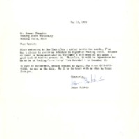 Letter from James Baldwin to Ernest Champion confirming fall 1979 residency