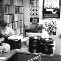 Music Library and Sound Recordings Archives staff at work