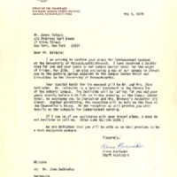 Letters to James Baldwin regarding his commencement address at the University of Massachusetts at Amherst