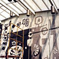 Restoration of Jerome Library mural