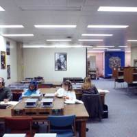 Students in the Music Library and Sound Recordings Archives