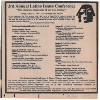 3rd Annual Latino Issues Conference Program 1997
