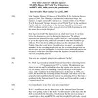 Jim Spencer audio oral history interview, April 2, 2001