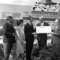 William T. Jerome at Jerome Library groundbreaking ceremony