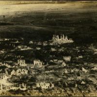 European village decimated by war, 1918