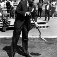 Dr. John Millett at Jerome Library groundbreaking ceremony