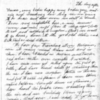 Letter from Albert Krueger to his mother, father, brother, and sisters