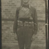 Daniel H. McCullough in combat gear in France during World War I