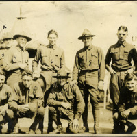 Troops from the 135th Field Artillery, 62nd Field Artillery Brigade, 37th Infantry Division, at Camp Sheridan