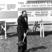 Unidentified man at Jerome Library groundbreaking ceremony