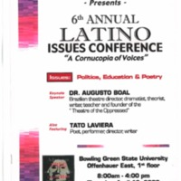 6th Annual Latino Issues Conference Poster