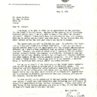 Letter to James Baldwin from University of California, Berkeley, Institute for the Study of Social Change
