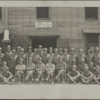 Troops from the 30th Company, 8th Training Battalion, 158th Depot Brigade at Camp Sherman in Chillicothe, Ohio.
