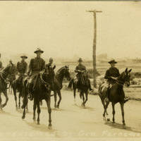 37th Infantry Division troops on horseback at Camp Sheridan
