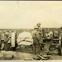 135th Field Artillery troops in battle, 1918