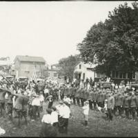 Rifle salute at Monument Park, Defiance, 1919