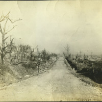 Western Front road, 1918