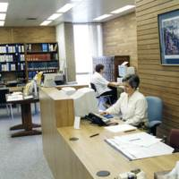 Reference desk of the Center for Archival Collections