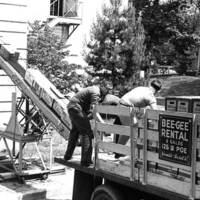 Loading library materials onto a moving truck