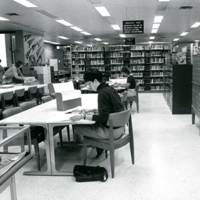 Students studying in the Browne Popular Culture Library