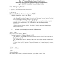 The 11th Annual Latino Issues Conference Draft Program