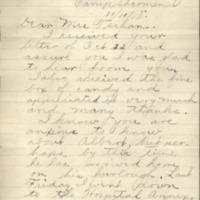 Henry Ellsworth letter to Mrs. Tschan, November 11, 1918