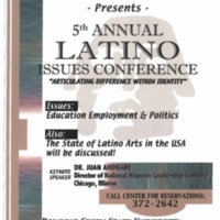 5th Annual Latino Issues Conference Poster