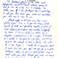 Letter to James Baldwin from unknown author