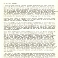 Letter to James Baldwin from Louis Hudson