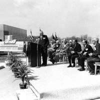Groundbreaking ceremony for the Jerome Library
